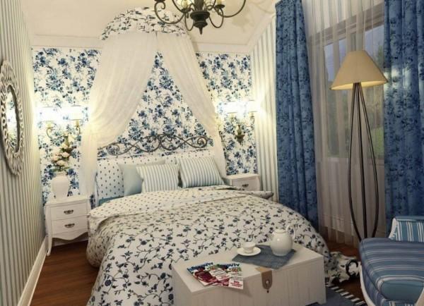 французский стиль спальня с балдахином