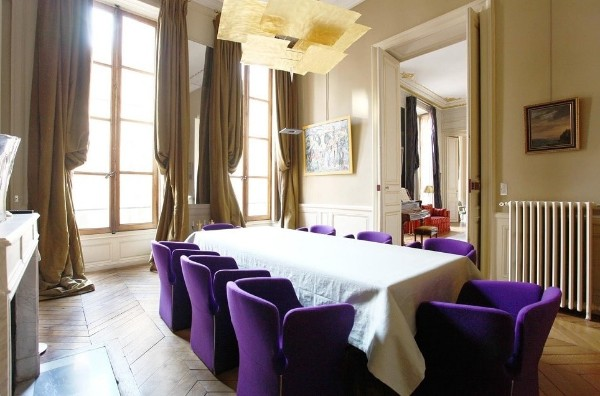 французский стиль в интерьере гостиная с панорамными окнами