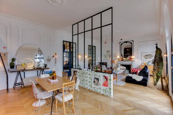 французский стиль в интерьере гостиная в белом цвете
