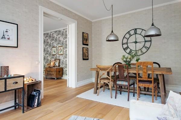 французский стиль в интерьере гостиной стол из дерева