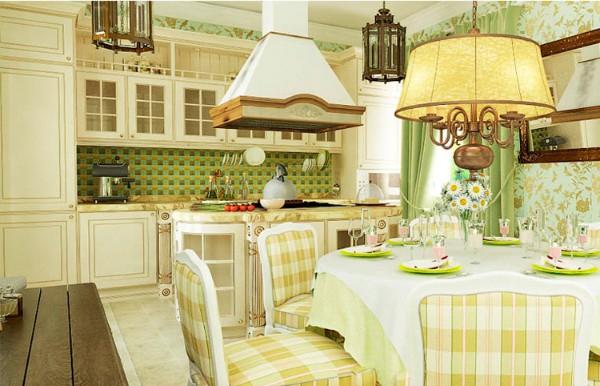 французский стиль в интерьере кухни кантри