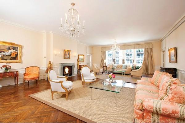 французский стиль в интерьере просторная гостиная