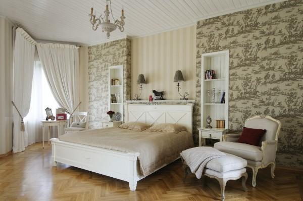 французский стиль в интерьере светлая спальня