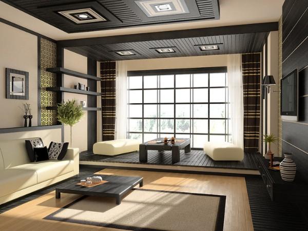 гостиная в стиле минимализм интерьер с элементами японского дизайна
