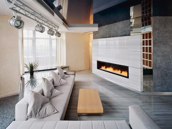 гостиная в стиле минимализм интерьер с неправильной планировкой