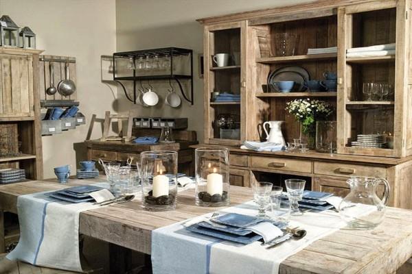 интерьер французской кухни кантри