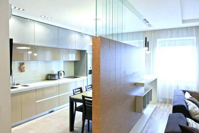 интерьер кухни студии современной фото