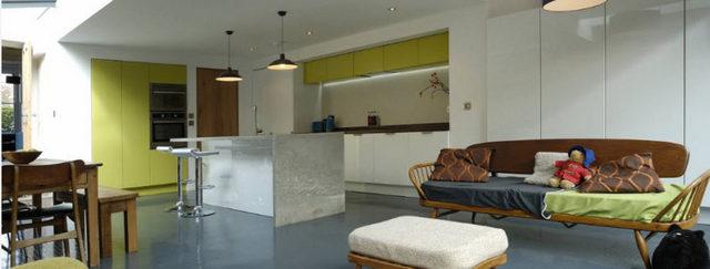 интерьер маленькой кухни студии фото пример