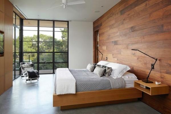 интерьер спаьни в стиле минимализм