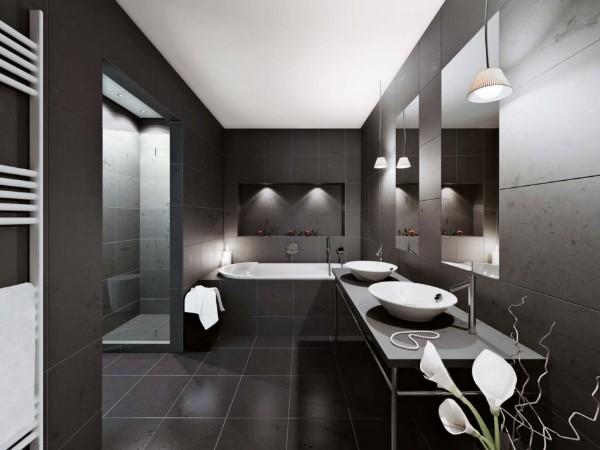 изысканный интерьер ванной в стиле минимализм