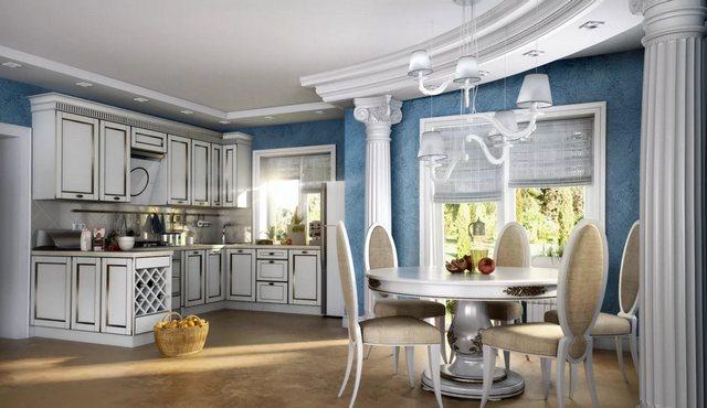 кухни студии в большом частном доме