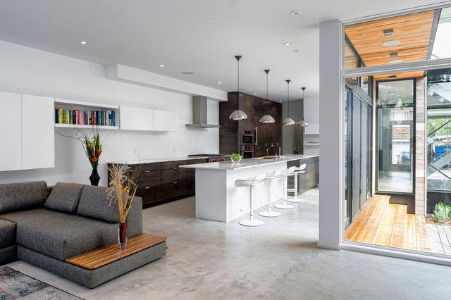 кухни студии в частном доме 40