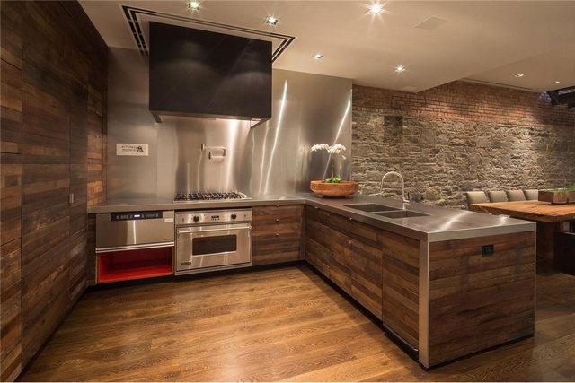 кухни студии в частном доме лофт