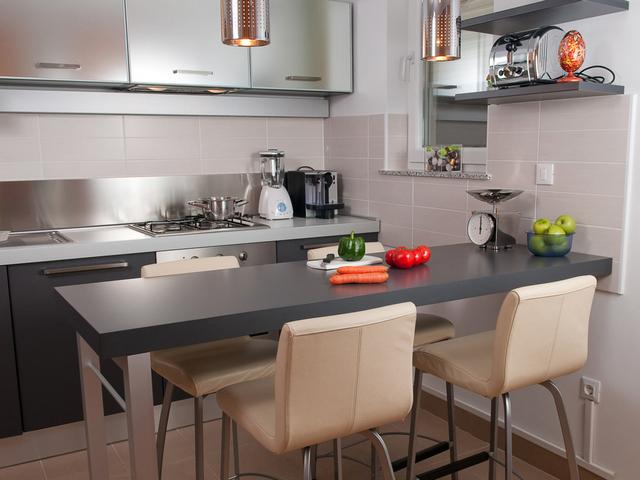 кухня гостиная с барной стойкой дизайн