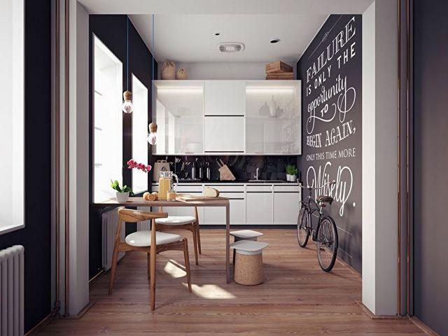 кухня гостиная в скандинавском стиле фото интерьер фото