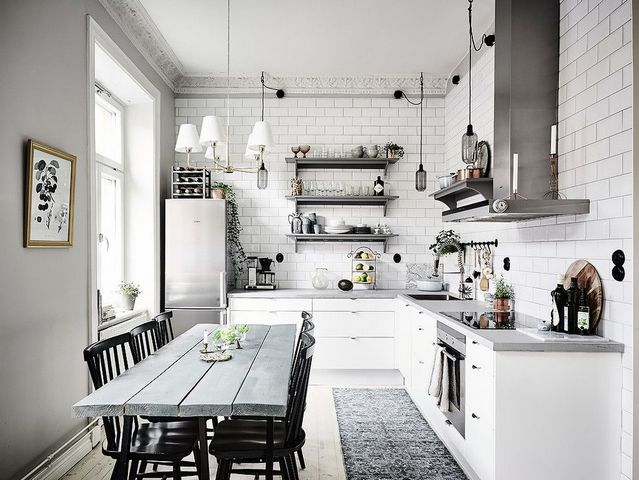 кухня гостиная в скандинавском стиле фото