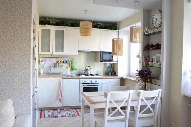 кухня совмещённая с гостиной в скандинавском стиле фото