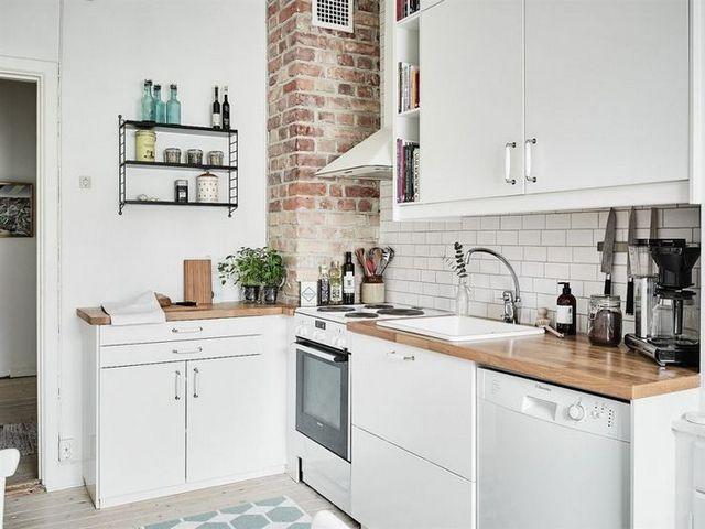 кухня совмещённая с гостиной в скандинавском стиле на фото
