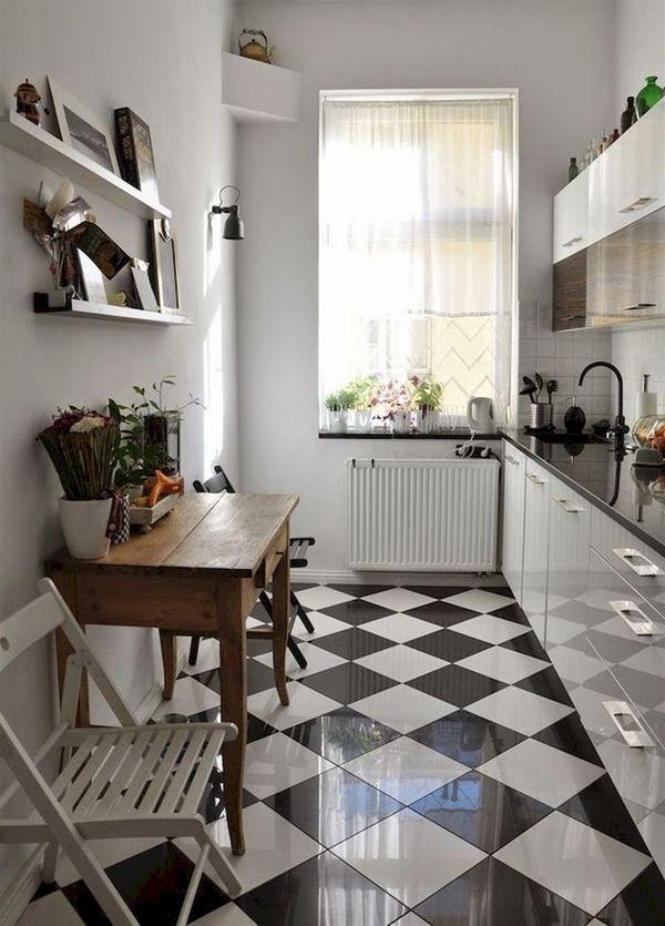 кухня совмещённая с гостиной в скандинавском стиле