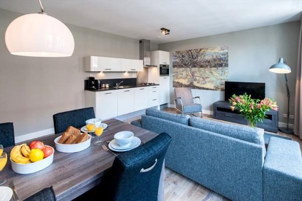 кухня-студия с гостиной неброский дизайн