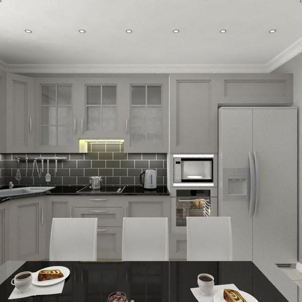кухня в доме в скандинавском стиле