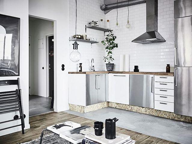 кухня в скандинавском стиле в квартире