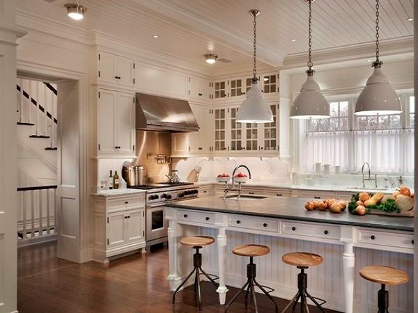 кухня в стиле прованс цвета слоновой кости