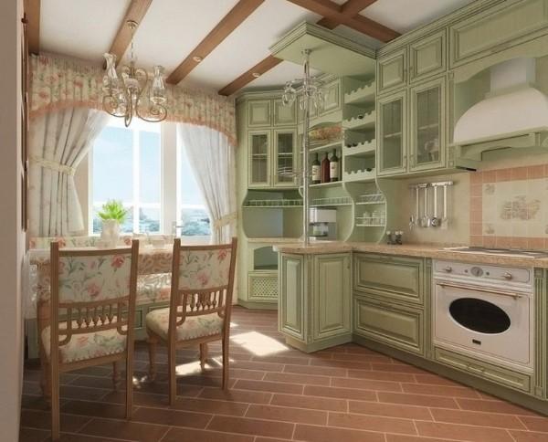 кухня во французском стиле оливковая прованс