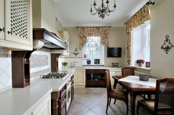 кухня во французском стиле отделка деревом