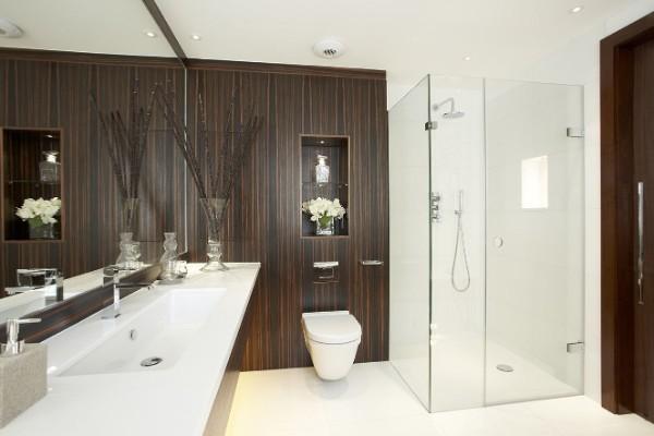лакшери дизайн интерьера ванной в стиле минимализм