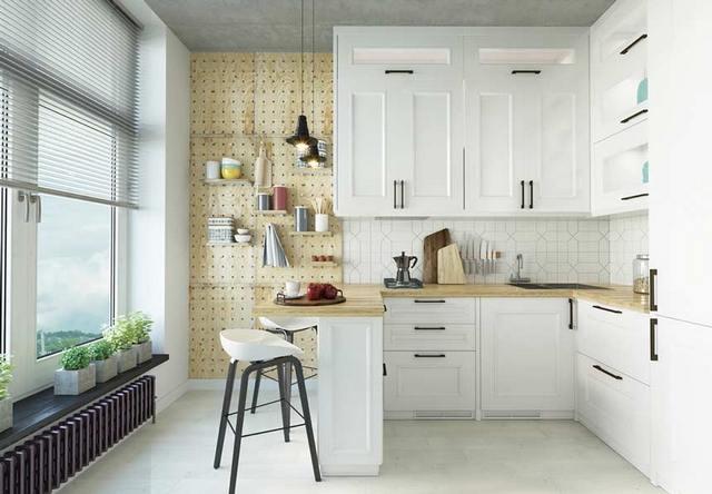 маленькая кухня гостиная в скандинавском стиле