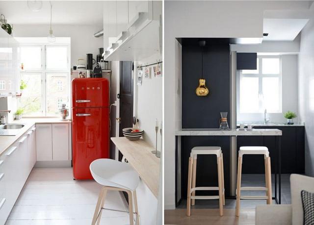маленькие кухни с барной стойкой дизайн фото пример