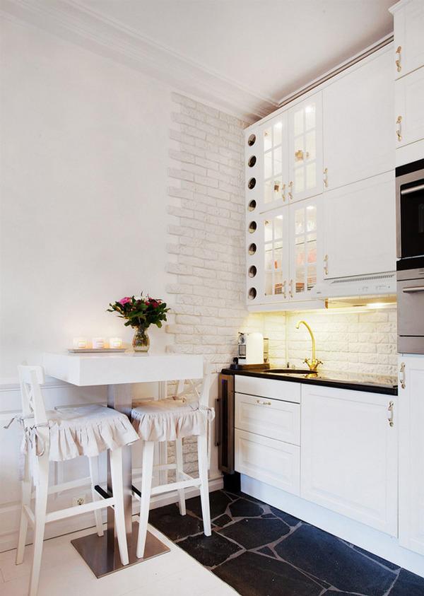 маленькие кухни с барной стойкой дизайн пример