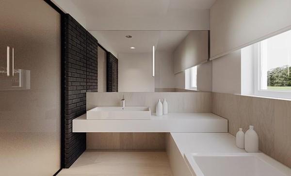 минималистический интерьер ванной с идеями лофт