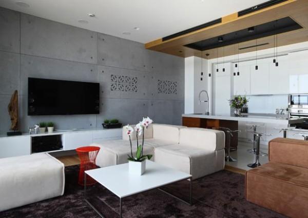 минимализм в интерьере квартиры студии лофтовые элементы