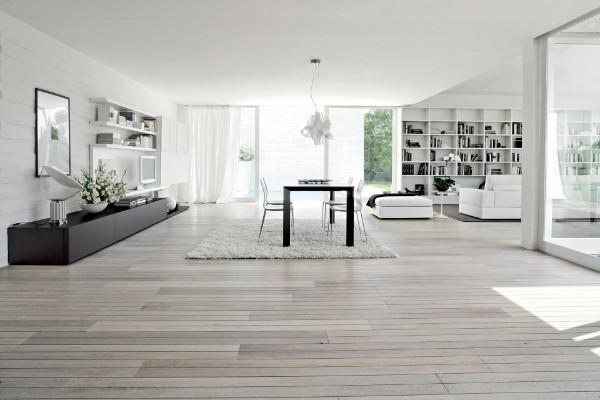 минимализм в интерьере просторной квартиры студии