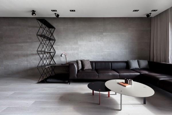 минимализм в интерьере современной гостиной элементы лофтового дизайна