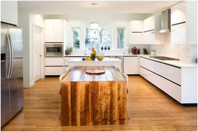 напольное покрытие для кухни в скандинавском стиле