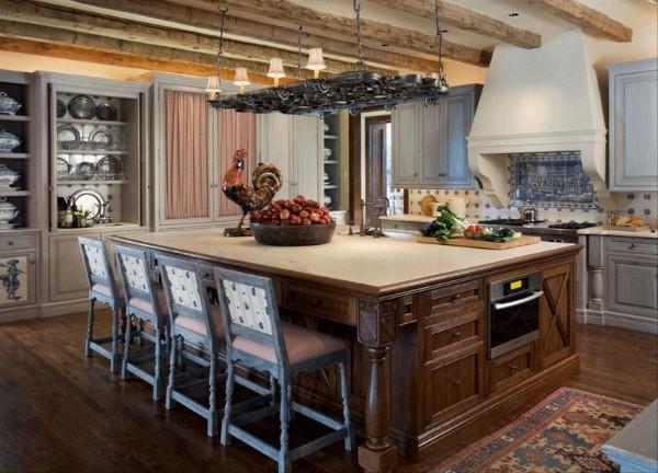 нетривиальный дизайн кухня в стиле прованс