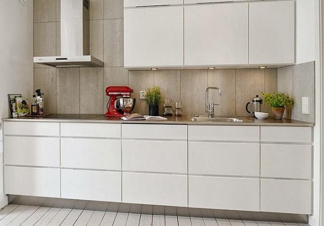 прекрасный дизайн современной двухкомнатной квартиры в сером цвете в швеции