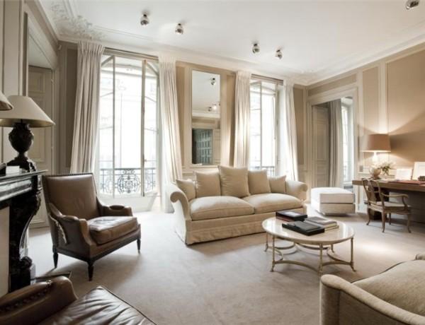 роскошная гостиная во французском стиле