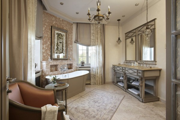 роскошная ванная во французском стиле