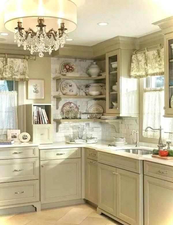серо-белая кухня во французском стиле