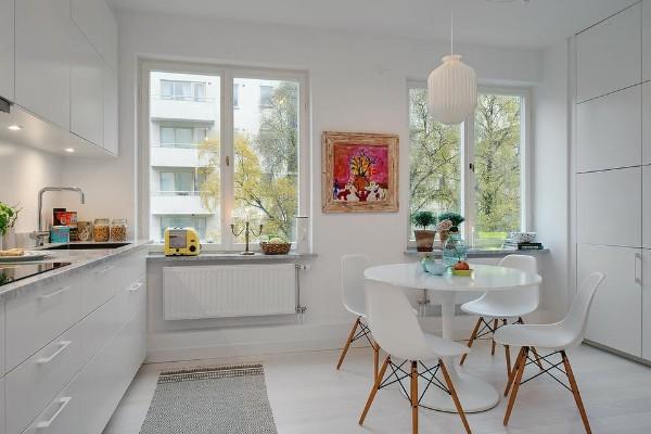 скандинавский минимализм в интерьере современной кухни