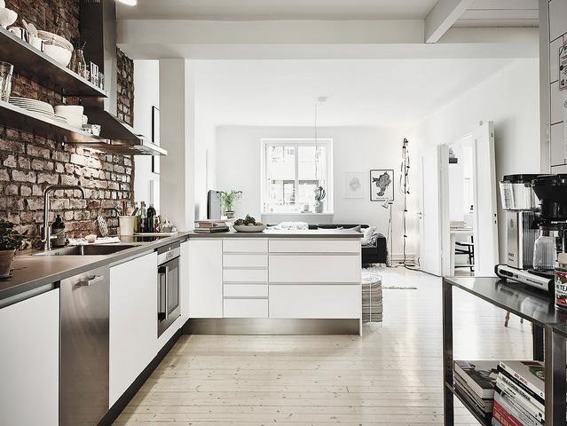 цвет кухни в скандинавском стиле