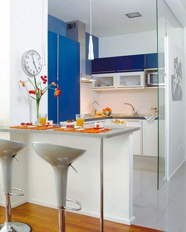 угловая кухня с барной стойкой дизайн фото