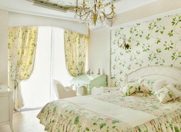 воздушная спальня во французском стиле