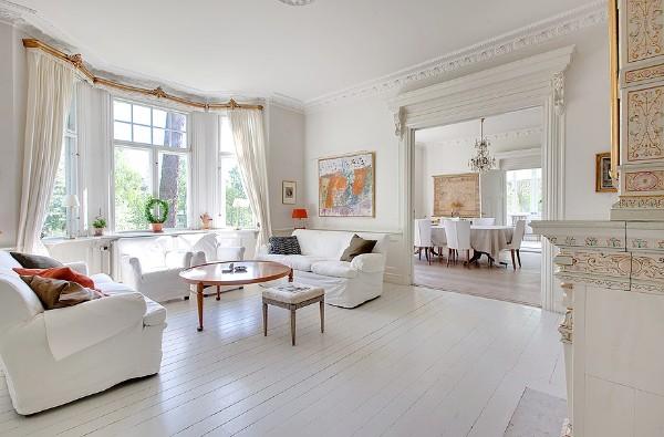 скандинавский стиль в интерьере гостиной изысканный дизайн