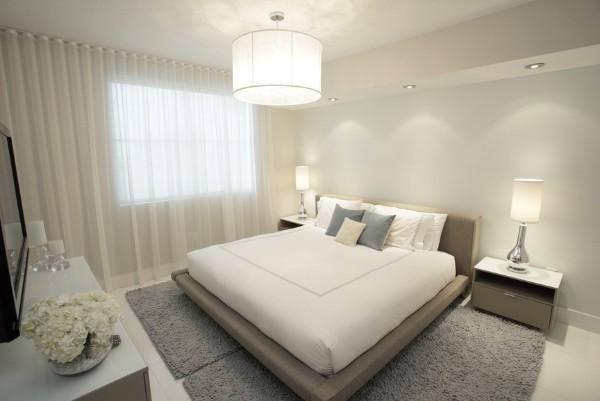 сочетание цветов в интерьере минималистической спальни