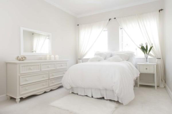 сочетание цветов в интерьере спальни белый дизайн